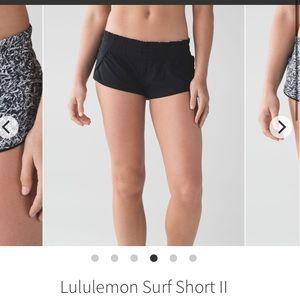 lulu lemon size 4 reversible shorts